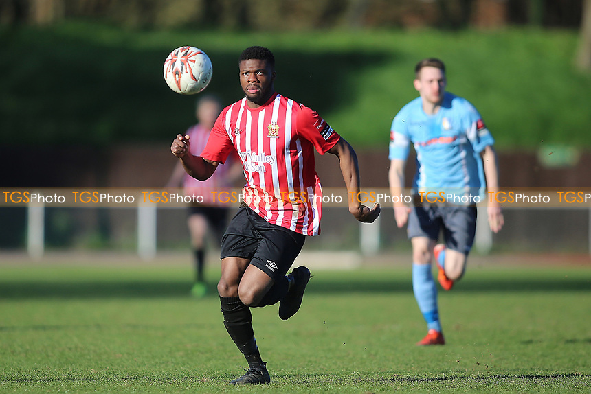 Usman Adeniji of Hornchurch during AFC Hornchurch vs Norwich United, Ryman League Division 1 North Football at Hornchurch Stadium on 25th March 2017