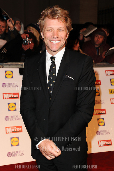 Jon Bon Jovi arriving for the 2012 Pride of Britain Awards, at the Grosvenor House Hotel, London. 29/10/2012 Picture by: Steve Vas / Featureflash