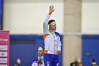 SCHAATSEN: CALGARY: Olympic Oval, 10-11-2013, Essent ISU World Cup, podium, 5000m, Sven Kramer (NED), ©foto Martin de Jong