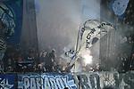 08.11.2018, BayArena, Leverkusen, Europaleque, Vorrunde, GER, UEFA EL, Bayer 04 Leverkusen (GER) vs. FC Zuerich (SUI),<br />  <br /> DFL regulations prohibit any use of photographs as image sequences and/or quasi-video<br /> <br /> im Bild / picture shows: <br /> Pyrotechnik, Feuerwerk, Rauch, Gefahr, Feuer, Leuchtfeuer, Kurzve    zuerich<br /> <br /> Foto &copy; nordphoto / Meuter<br /> <br /> <br /> <br /> Foto &copy; nordphoto / Meuter