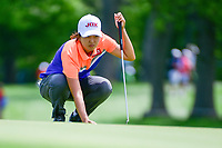 Min Seo Kwak (KOR) prepares to putt on 16 during Thursday's round 1 of the 2017 KPMG Women's PGA Championship, at Olympia Fields Country Club, Olympia Fields, Illinois. 6/29/2017.<br /> Picture: Golffile | Ken Murray<br /> <br /> <br /> All photo usage must carry mandatory copyright credit (&copy; Golffile | Ken Murray)