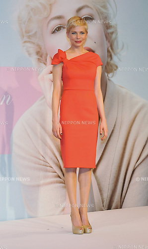 "Michelle Williams, Mar 14, 2012 : Actress Michelle Williams attends a press conference for the film ""My Week with Marilyn"" in Tokyo, Japan on March 14, 2012."