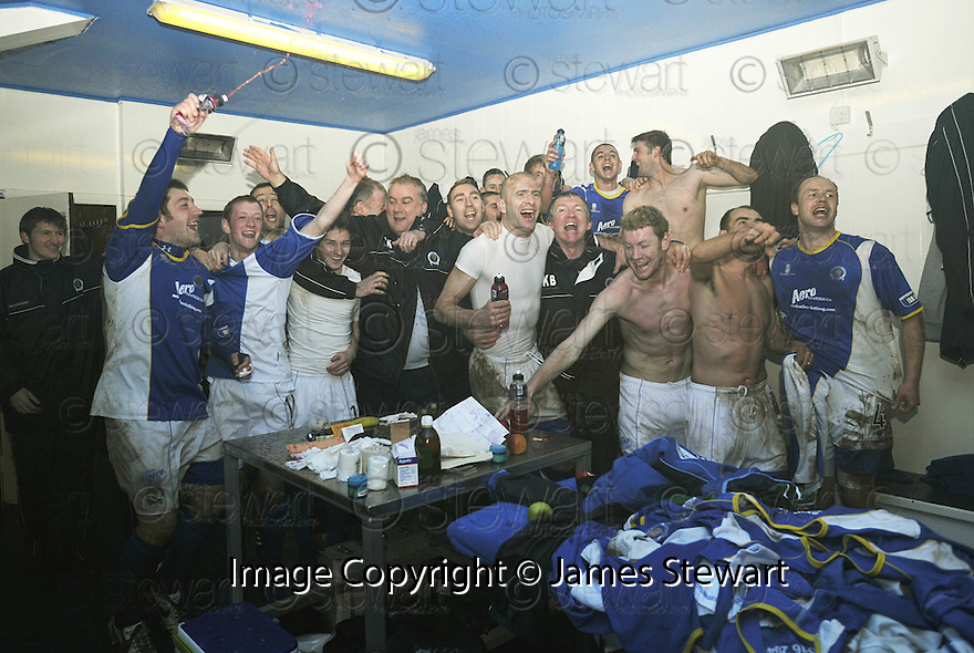 08/03/2008    Copyright Pic: James Stewart.File Name : sct_jspa16_qots_v_dundee.THE QUEEN OF THE SOUTH PLAYERS CELEBRATE THEIR WIN.James Stewart Photo Agency 19 Carronlea Drive, Falkirk. FK2 8DN      Vat Reg No. 607 6932 25.Studio      : +44 (0)1324 611191 .Mobile      : +44 (0)7721 416997.E-mail  :  jim@jspa.co.uk.If you require further information then contact Jim Stewart on any of the numbers above........