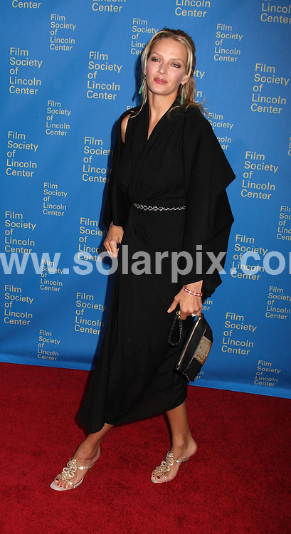 **ALL ROUND PICTURES FROM SOLARPIX.COM**.**SYNDICATION RIGHTS FOR UK, SPAIN, PORTUGAL, AUSTRALIA, S.AFRICA & DUBAI (U.A.E) ONLY**.The 35th Annual Film Society of Lincoln Center Gala Tribute to Meryl Streep at the Green Room in Avery Fisher Hall in New York  USA  .This pic:Uma Thurman.JOB REF:6143-PHZ/Janet Mayer          DATE:14_04_08 .**MUST CREDIT SOLARPIX.COM OR DOUBLE FEE WILL BE CHARGED* *UNDER NO CIRCUMSTANCES IS THIS IMAGE TO BE REPRODUCED FOR ANY ONLINE EDITION WITHOUT PRIOR PERMISSION*