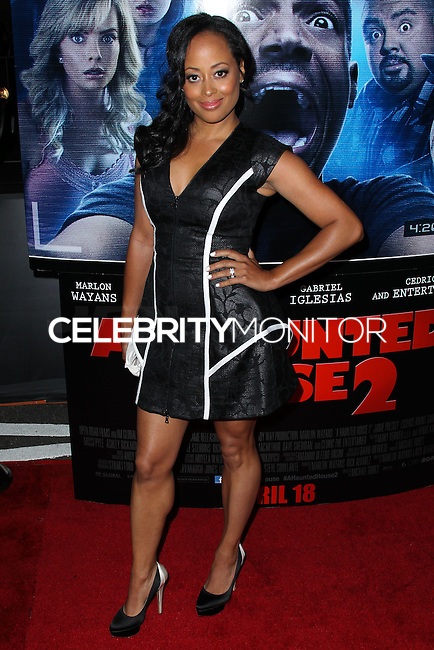 "LOS ANGELES, CA, USA - APRIL 16: Essence Atkins at the Los Angeles Premiere Of Open Road Films' ""A Haunted House 2"" held at Regal Cinemas L.A. Live on April 16, 2014 in Los Angeles, California, United States. (Photo by Xavier Collin/Celebrity Monitor)"