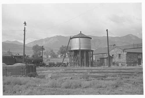 MT water tank and roundhouse at Colorado City.<br /> Midland Terminal  Colorado City, CO