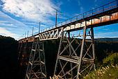 The Makatote Rail Viaduct , Ruapehu, Central North Island, New Zealand