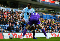 Blackburn Rovers' Ryan Nyambe vies for possession with Stoke City's James McClean<br /> <br /> Photographer Alex Dodd/CameraSport<br /> <br /> The EFL Sky Bet Championship - Blackburn Rovers v Stoke City - Saturday 6th April 2019 - Ewood Park - Blackburn<br /> <br /> World Copyright © 2019 CameraSport. All rights reserved. 43 Linden Ave. Countesthorpe. Leicester. England. LE8 5PG - Tel: +44 (0) 116 277 4147 - admin@camerasport.com - www.camerasport.com