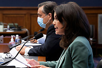 Amelia Brace (R) of Australia's Seven News testifies beside George Washington University Law School Law Professor Jonathan Turley (L) during the US House Natural Resources Committee hearing on 'The US Park Police Attack on Peaceful Protesters at Lafayette Square', on Capitol Hill in Washington, DC, USA, 29 June 2020. The death of George Floyd while in Minneapolis police custody has sparked protests demanding policing reform and racial equality. Amidst protests authorities cleared Lafayette Square, 01 June 2020, before US President Donald J. Trump walked across the park and visited St. John's Church.<br /> Credit: Michael Reynolds / Pool via CNP / MediaPunch
