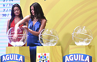 BOGOTA - COLOMBIA - 17-01-2017: A models during the Dimayor draw for the championship Liga Aguila I 2017. Photo: VizzorImage / Luis Ramírez / Staff.