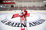 Wisconsin Badgers women's hockey players skate on the new ice on move-in day at the LaBahn Arena Monday, October 1, 2012 in Madison, Wisc. (Photo by David Stluka)
