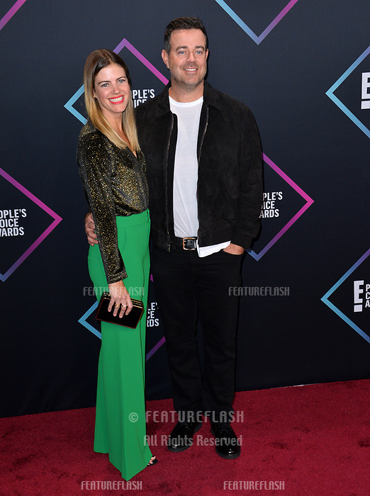 LOS ANGELES, CA. November 11, 2018: Carson Daly &amp; Siri Pinter at the E! People's Choice Awards 2018 at Barker Hangar, Santa Monica Airport.<br /> Picture: Paul Smith/Featureflash