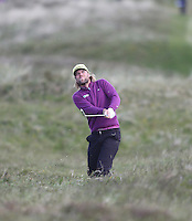 Friday 29th May 2015; Johan Carlsson, Sweeden, watches the flight of his ball from the rough on the 8th<br /> <br /> Dubai Duty Free Irish Open Golf Championship 2015, Round 2 County Down Golf Club, Co. Down. Picture credit: John Dickson / SPORTSFILE