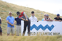 Jeunghun Wang (KOR) on the 8th tee during Round 2 of the Dubai Duty Free Irish Open at Ballyliffin Golf Club, Donegal on Friday 6th July 2018.<br /> Picture:  Thos Caffrey / Golffile