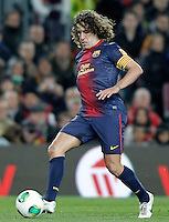 FC Barcelona's Carles Puyol during Copa del Rey - King's Cup semifinal second match.February 26,2013. (ALTERPHOTOS/Acero) /NortePhoto