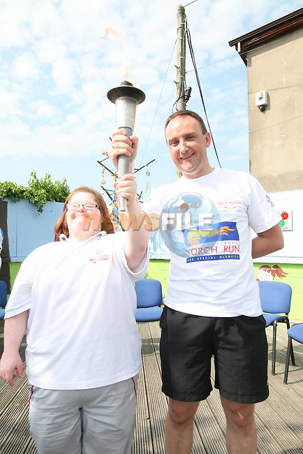 Suzie Duffy at the Arrival of the Special Olympics Torch at St. Itas School...Photo NEWSFILE/Jenny Matthews.(Photo credit should read Jenny Matthews/NEWSFILE)....This Picture has been sent you under the condtions enclosed by:.Newsfile Ltd..The Studio,.Millmount Abbey,.Drogheda,.Co Meath..Ireland..Tel: +353(0)41-9871240.Fax: +353(0)41-9871260.GSM: +353(0)86-2500958.email: pictures@newsfile.ie.www.newsfile.ie.FTP: 193.120.102.198.