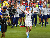 20190707 - LYON , FRANCE : American Megan Rapinoe pictured being celebrated during the female soccer game between The United States of America – USA-  and the Netherlands – Oranje Leeuwinnen -, the final  of the FIFA Women's  World Championship in France 2019, Sunday 7 th July 2019 at the Stade de Lyon  Stadium in Lyon  , France .  PHOTO SPORTPIX.BE | DAVID CATRY