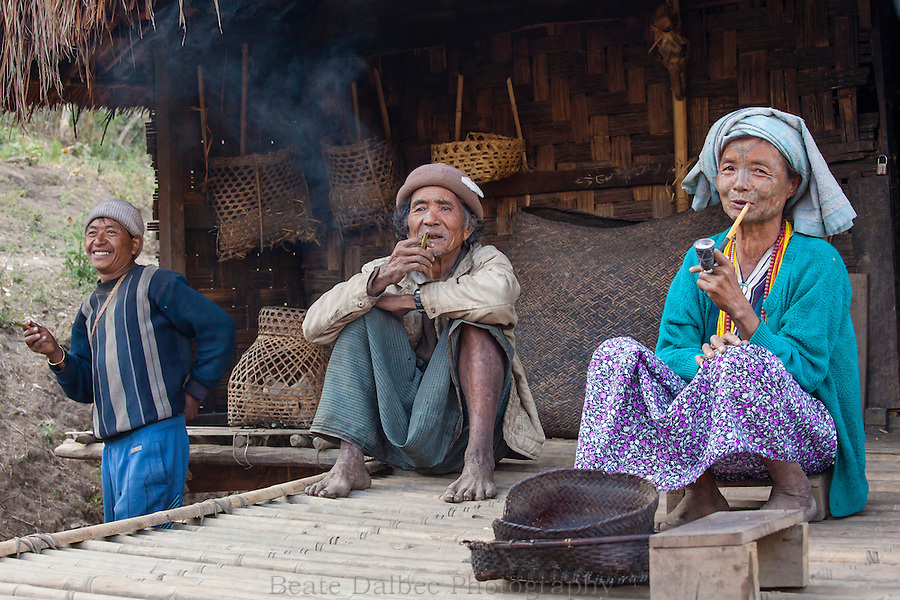 Villagers in the Chin hills, Myanmar