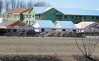 NWA Democrat-Gazette/DAVID GOTTSCHALK Work continues Friday, March 2, 2018, at the Grand Village at Clear Creek independent living community in Fayetteville. The number of facilities and units available for elderly people is on the rise as the population continues to grow and age. The new living community, expected to open in December, will offer a huge range of amenities to people 55 years old or older.