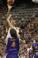 24.07.2012 Barcelona, Spain.  Pre-Olympic friendly game between Spain against USA at Palau St. Jordi. Picture shows Lebron James