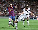 UEFA Champions League, Spain, Camp Nou, FC Barcelona v Viktoria Plzen. Picture show Leo Mesi