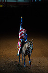 Flag Girl during first round of the Fort Worth Stockyards Pro Rodeo event in Fort Worth, TX - 8.2.2019 Photo by Christopher Thompson