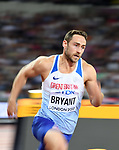 Ashley BRYANT (GBR) in the mens decathlon 400m. IAAF world athletics championships. London Olympic stadium. Queen Elizabeth Olympic park. Stratford. London. UK. 11/08/2017. ~ MANDATORY CREDIT Garry Bowden/SIPPA - NO UNAUTHORISED USE - +44 7837 394578