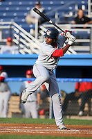 July 10th 2008:  Rafael Cabreja of the Lowell Spinners, Class-A affiliate of the Boston Red Sox, during a game at Dwyer Stadium in Batavia, NY.  Photo by:  Mike Janes/Four Seam Images
