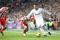 Cristiano Ronaldo, Juanfran Torres and Koke during La Liga Match. December 02, 2012. (ALTERPHOTOS/Caro Marin)