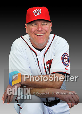 25 February 2011: Spring Training Instructor Spin Williams poses for his Washington Nationals Photo Day portrait at Space Coast Stadium in Viera, Florida. Mandatory Credit: Ed Wolfstein Photo