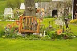 Spring Fulton County, PA. Joanne Kendal nick-nack garden.