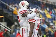 Annapolis, MD - October 8, 2016: Houston Cougars wide receiver Steven Dunbar (88) celebrates with his teammate after scoring a touchdown during game between Houston and Navy at  Navy-Marine Corps Memorial Stadium in Annapolis, MD.   (Photo by Elliott Brown/Media Images International)