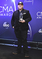 NASHVILLE, TN - NOVEMBER 14:  Luke Combs at the 52nd Annual CMA Awards at the Bridgetone Arena on November 14, 2018 iin Nashville, Tennessee. (Photo by Scott Kirkland/PictureGroup)