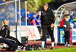 Uppsala 2015-05-21 Fotboll Superettan IK Sirius - Mj&auml;llby AIF :  <br /> Mj&auml;llbys tr&auml;nare Hans Larsson deppar under matchen mellan IK Sirius och Mj&auml;llby AIF <br /> (Foto: Kenta J&ouml;nsson) Nyckelord:  Superettan Sirius IKS Mj&auml;llby AIF depp besviken besvikelse sorg ledsen deppig nedst&auml;md uppgiven sad disappointment disappointed dejected