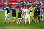 17.03.2019, BayArena, Leverkusen, GER, 1. FBL, Bayer 04 Leverkusen vs. SV Werder Bremen,<br />  <br /> DFL regulations prohibit any use of photographs as image sequences and/or quasi-video<br /> <br /> im Bild / picture shows: <br /> die Bremer bedanken sich bei den Fans und feiern <br /> <br /> Foto © nordphoto / Meuter