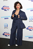 Raye at the Capital FM Summertime Ball at Wembley Stadium, London on June 8th 2019<br /> CAP/ROS<br /> ©ROS/Capital Pictures
