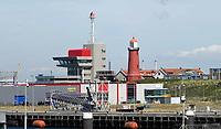 Nederland  IJmuiden aan Zee - 2019. Gebied bij de haven. Vuurtoren. Foto Berlinda van Dam / Hollandse Hoogte