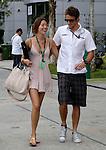 Motorsports / Formula 1: World Championship 2009, GP of Malaysia, 22 Jenson Button (GBR, Brawn GP), girlfriend Jessica Michibata (JPN)