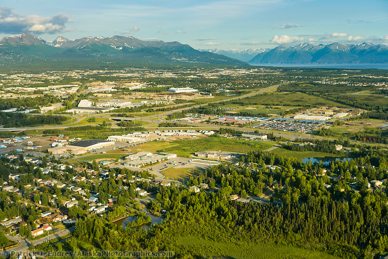 Aerial view of the city of Anchorage, Alaska