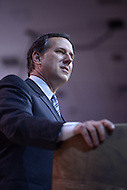 National Harbor, MD - March 7, 2014: Former U.S. Senator Rick Santorum addresses attendees of the 2014 Conservative Political Action Conference held at National Harbor, MD, March 7, 2014.   (Photo by Don Baxter/Media Images International)