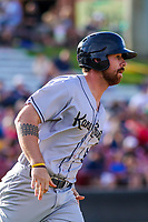 Kane County Cougars catcher Francis Christy (8) during game one of a Midwest League doubleheader against the Wisconsin Timber Rattlers on June 23, 2017 at Fox Cities Stadium in Appleton, Wisconsin.  Kane County defeated Wisconsin 4-3. (Brad Krause/Krause Sports Photography)