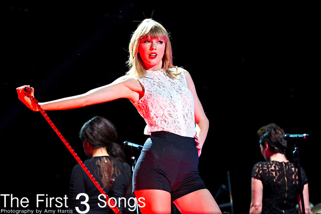 Taylor Swift performs at LP Field during Day 1 of the 2013 CMA Music Festival in Nashville, Tennessee.