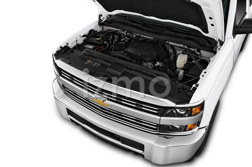 Car stock 2018 Chevrolet Silverado 2500HD Work Truck Regular Cab  2 Door Pick Up engine high angle detail view