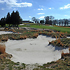 The 18th Hole of Bethpage State Park's Black Course has recently begun expansion of its bunkers as it is seen on Wednesday, April 18, 2018. The course will be the site on the PGA Championship in May 2019.