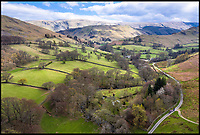 BNPS.co.uk (01202)558833<br /> Pic:    Savills/BNPS<br /> <br /> A country estate that has its own farm, tea rooms and glamping business in the heart of the Lake District has gone on market for those looking to escape the rat race.<br /> <br /> Backside Farm sits on the banks of Ullswater - the second largest lake in the Cumbrian National Park - and has one mile of water access as well as stunning views of the mountains. <br /> <br /> The outgoing owners have been on the 195 acre estate for over a decade and in that time they have renovated the large five bedroom farmhouse.<br /> <br /> They also set up the tea rooms and two holiday rental cabins and have established them as a business.