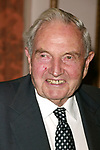 David Rockefeller Attending the United Nations Association of USA Global Leadership Dinner honoring Oprah Winfrey with the Global Humanitarian Action Award at the Waldorf Astoria Hotel in New York City.<br />