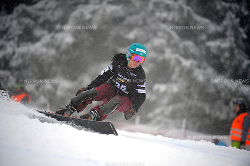 Eri Yanetani (JPN), DECEMBER 16, 2014 - Snowboarding : FIS Snowboard World Cup Women's Parallel Giant Slalom in Carezza, Italy. (Photo by Hiroyuki Sato/AFLO) [2016]