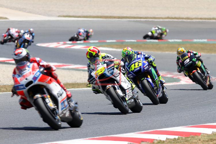 Gran Premi Monster Energy de Catalunya 2017.<br /> Moto GP Race.<br /> Jorge Lorenzo, Alvaro Bautista &amp; Valentino Rossi.
