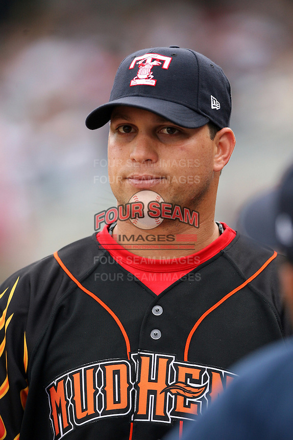 June 12th 2008:  Jackson Melian of the Toledo Mudhens, Class-AAA affiliate of the Detroit Tigers, during a game at Fifth Third Field in Toledo, OH.  Photo by:  Mike Janes/Four Seam Images