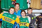 Jessica Foley, Marie Galvin, Caoimhe Galvin and Fionan Foley at the new Kerry shirt launch in the Kerry GAA shop on Friday
